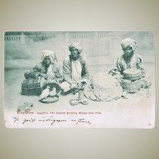 Singapore Vintage Postcard with Jugglers 1907 to Pola