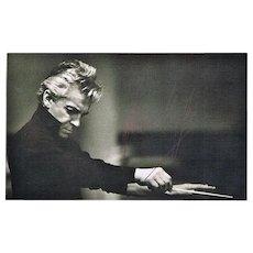 Herbert von Karajan Autograph on b/w Photo. CoA