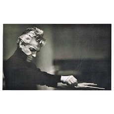 Herbert von Karajan Autograph on b/w Photo. CoA