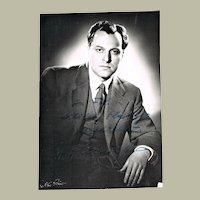 Boris Christoff Autograph and Dedication on Photo. CoA