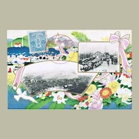 Old Japanese Postcard with Kobe Commemorative Strike 1908
