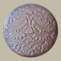 Decorative, antique Chinese Metal Ink Box