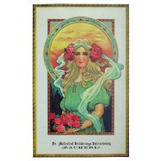 Decorative Art Nouveau Style Poster by Insurance Company