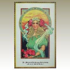 Decorative Art Nouveau Style Poster by Insurance Company