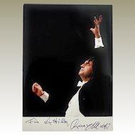 Conductor Riccardo Muti Autograph: 5 x 7, CoA