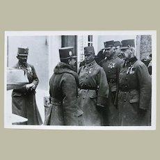 Archduke Ferdinand Karl of Austria inspecting Troops. Vintage Photo