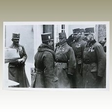 Archduke Ferdinand Karl of Austria inspecting Troops. Vintage Photo