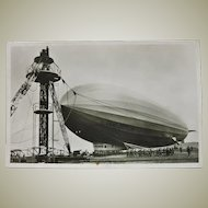 Airship Zeppelin Postcard with Commemorative Strike