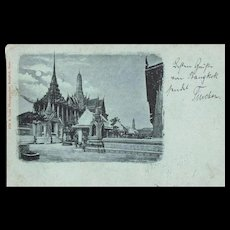 Old Siam Postcard 1902 as German Ship Post by Cruiser Hertha 19202