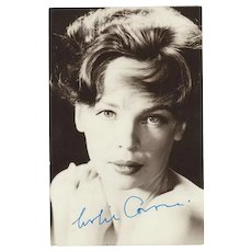 Leslie Caron Autograph on Photo. CoA