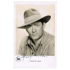 Gregory Peck Autograph on Photo. CoA