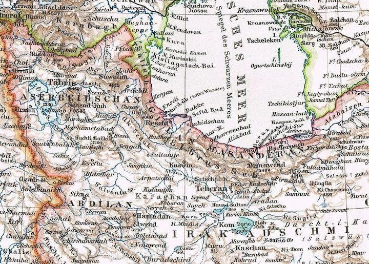 Persia old map from 1900 with surrounding countries iran iraq persia old map from 1900 with surrounding countries iran iraq gumiabroncs Image collections