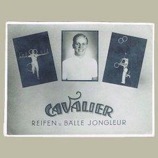 Cavalier Advertising Card for Juggler ca 1915