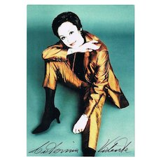 Catherina Valente Autograph on beautiful Photo, CoA