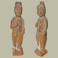 Tang Dynasty Chinese Servant Earthenware
