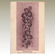 Old Advertising Postcard Artist Family Kremo