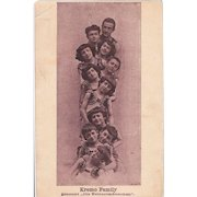 Old Advertising Postcard Artist Family Kremo