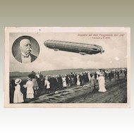 Airship Zeppelin in Jia Frankfurt 1909