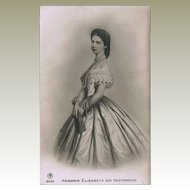 Empress Elisabeth from Austria known as Sisi Vintage Postcard