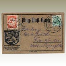 German Zeppelin Mail Flug Post Karte 1913 Offenbach