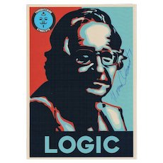 Noam Chomsky Autograph on Photo CoA