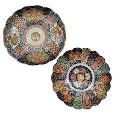 2 Antique Japanese Imari Plates