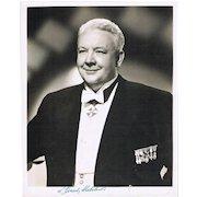 Lauritz Melchior Autograph on large Portrait Photo CoA