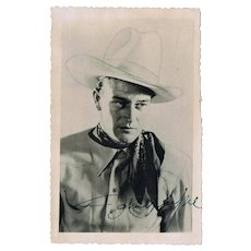 John Wayne Autograph on Early Photo CoA