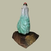 Antique Chinese Pak Choy Snuff Bottle 18 19 Ct