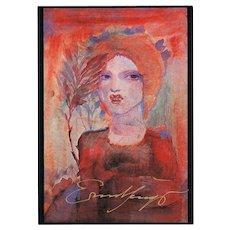 Ernst Fuchs Autograph on Artist Postcard. C.A
