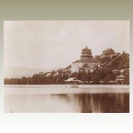 The Summer Palace in Peking. Old large Photo from 1902