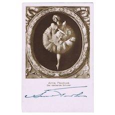 Anna Pavlova Autograph. Russian Prima Ballerina