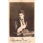 Queen Alexandra of England Carte de Visite with Autograph CoA