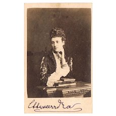 Queen Alexandra of England Carte de Visite with Autograph CoA