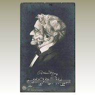 Richard Wagner Bust shaped from Opera Singers Vintage Postcard