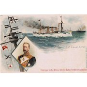 German Steamer S. M. Gefion Trading Card Coffee. Boxer Rebellion