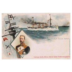 German Steamer S. M. Gefion Trading Card Coffee. Boxer Rebellion