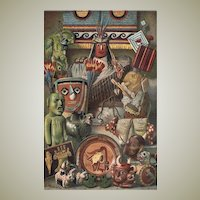 American Antiques: Decorative Graphic from 1902 with 19 Objects