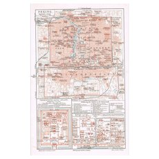 China Peking Old Map from 1902