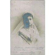 Alexandra Feodorovna Wife of Tsar Nichalas II Vintage Postcard