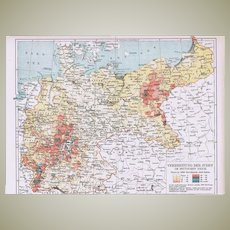 Spreading of Jews in Germany: Historical Map from 1902