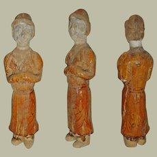 China Tang Dynasty Figurine Glazed COA