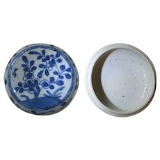 Antique Chinese Porcelain Trinket Box, Qing Dynasty
