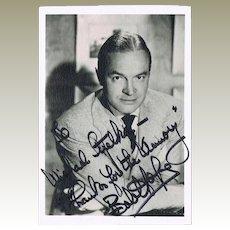 Bob Hope Autograph on Photo and Authentic Postal Cover COA