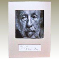 Artist Richard Hamilton Autograph CoA Pop Art