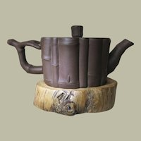 Chinese Yixing Tea Pot Bamboo Design