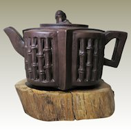 Chinese Yixing Tea Pot with Bamboo Design