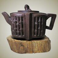 Chinese Yixing Tea Pot with Bamboo Design