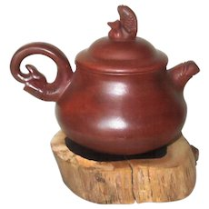 Chinese Yixing Tea Pot with Fish Design - Red Tag Sale Item