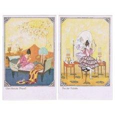 Mela Koehler Art Nouveau Postcard Set of Six